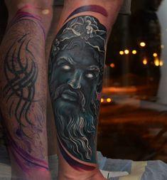 Cover-up tattoo on calves by Mihail Kogut Cover Up Tattoos For Men, Tattoos For Guys, Tennessee Tattoo, Archangel Tattoo, Bingo Wings, Calf Tattoo, Core Muscles, Manga Covers, Cover Tattoo
