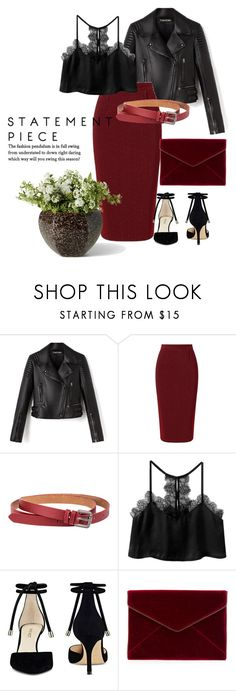 """Statement piece"" by belle-papillon ❤ liked on Polyvore featuring Roland Mouret, Nine West and Rebecca Minkoff"