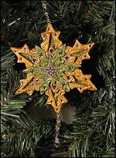 Stamped Snowflake Project · Polymer Clay | CraftGossip.com