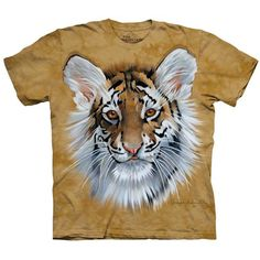 The Mountain TIGER CUB T-Shirt Zoo Animal Face Art Mens Sizes S-5XL NEW! #TheMountain #tiger #tigercub #tigerface #GraphicTee
