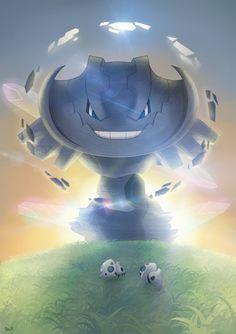 [Pokemon OR/AS Tribute] Mega Steelix by Brex5.deviantart.com on @DeviantArt (Aron)