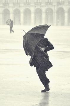 an umbrella fights the windy rain Walking In The Rain, Singing In The Rain, Rain Photography, Street Photography, Arte Black, Foto Portrait, I Love Rain, Rain Go Away, Rain Days
