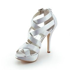 Women's Shoes Peep Toe Stiletto Heel Sandals with Buckle Wedding Shoes More Colors available - USD $ 54.99