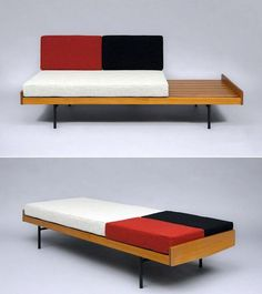 thedesignwalker:  Pierre Paulin; Daybed for Meuble TV, c1953.