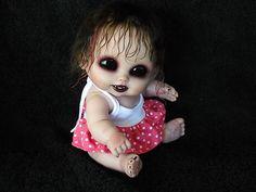 OOAK Horror Goth Art Doll Mini Vampire Baby | eBay