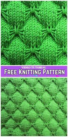 Knit Butterfly Stitch Blanket Free Knitting Pattern -Video Tutorial - Crochet and knitting pattern - Stricken Knitting Stiches, Easy Knitting Patterns, Loom Knitting, Free Knitting, Knitting Projects, Knit Stitches, Baby Blanket Knitting Pattern Free, Baby Knitting, Crochet Patterns