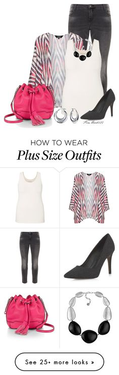 """""""Bucket Bag #Plussize"""" by penny-martin on Polyvore featuring Zizzi, navabi, maurices, Rebecca Minkoff, Dorothy Perkins and Bling Jewelry"""