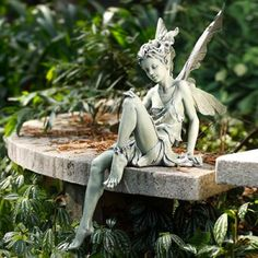 40 Stunningly Beautiful Statues Of Fairies And Angels For Your Home & Garden