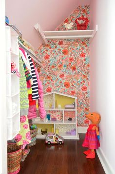 Wallflowers (aka: How To Cover A Wall With Fabric) | Young House Love