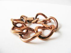 I love Renoir copper jewelry! ~ B Copper Bracelet Signed Renoir Chunky by WhimsicalEverAfter
