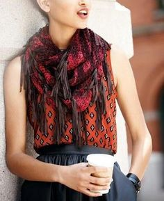 Fall must-have: Tie Dye Infinity Scarf