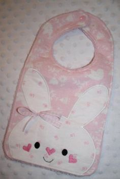 Bunny Bib Machine Embroidery Design for the 7x12 by SewingForSarah