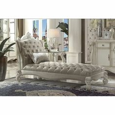 Versailles, Living Room Chairs, Living Room Furniture, Tufted Chaise Lounge, Chaise Lounges, Lounge Chairs, Dining Chairs, Acme Furniture, Cheap Furniture