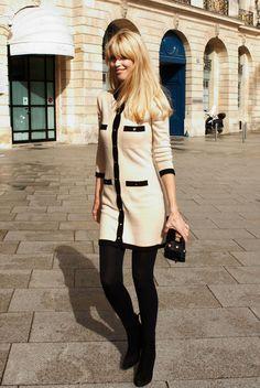 Claudia Schiffer Chanel Fashion Show during Fashion Week.
