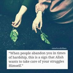 Depend only on Allah s.w.t ♡