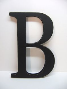 Wood Letter B Sign - 15 Inch - Painted Black - Distressed - Wall Decor -  Initial -  Monogram - Personalized - Wedding Decor - Shower Gift
