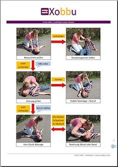 Xobbu - Checklisten, Vorlagen, Anleitungen, Merkblätter #erstehilfe #firstaid #notfall #anleitung #checkliste #stepbystep #merkblatt www.xobbu.com