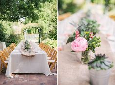 Exactly the kind of succulent centerpieces that I want. Kayla F Photography: Palo Alto Elizabeth Gamble Gardens Multicultural Wedding   Prinda and Thomas Married