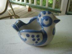 Mary Hadley Pottery Bird Small Ashtray Ring holder by backofbeyond. $9.00, via Etsy.