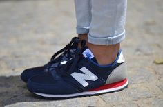 new balance 420 navy white