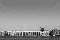 Skylines by Dennis Duinker who connects the dots in his black and white Skylines series of Rotterdam landscapes, unveiling a geometric puzzle in the sky above the towering architecture. Using a motion blur, he brings the city up to speed with an emphasis on horizontal and vertical lines. via visiualnews #Photography #Cityscape
