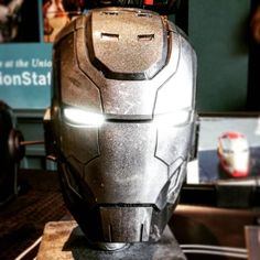 A beautiful and intimidating War Machine mask. 3D printed, painted, and treatment done by The Digital Armory.  #cosplay #marveluniverse #marvel #mcu #ironman #warmachine #led #mask #cosplayradio #nerd #geek #nerdstuff #comic #3d #3dprinting #KC #kcmakersfaire #makersfaire