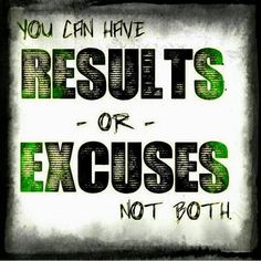 Results or excuses, your choice! Check out cookfitt fit tips.