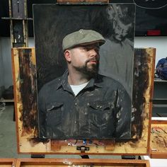 Started this painting of @brudvik today. @trekell_art_supplies did all the work.