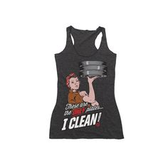AsRx Womens Cleaning Plates Racerback Tank Top | AsRx