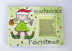 Commemorate this year's christmas with a special, personalized hand painted photo frame. perfect for capturing one of the many special moments sure to be had this christmas.   Customizable on Hatch.co