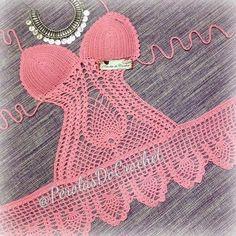Crochet Diagram, Crochet Chart, Crochet Patterns, Crochet Toddler, Crochet Baby, Knit Crochet, Motif Bikini Crochet, Crochet Lingerie, Crochet Bathing Suits