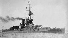 HMS Iron Duke, flagship of Admiral Sir John Jellicoe, Commander of the British Grand Fleet at Jutland.