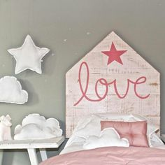 Cute girls bed headboard