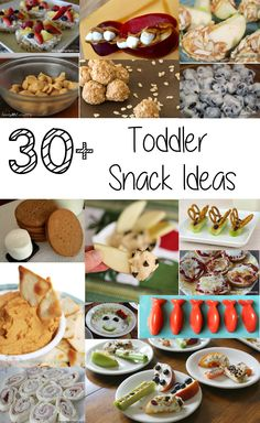 Toddler Snack Ideas- Over 30 ideas for a fun, delicious, nutritious snack time that toddlers, preschoolers, and even big kids will love!
