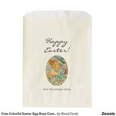 Cute Colorful Easter Egg Hunt Custom Party Favor Favor Bags