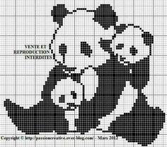 Panda Thais Crochet Amigurumi Free Patterns, Afghan Crochet Patterns, Loom Patterns, Quilt Patterns, Cross Stitch Boards, Cross Stitch Alphabet, Cross Stitch Animals, Cross Stitch Designs, Cross Stitch Patterns