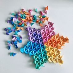 Do you know you can request custom order in any shape or colours you wish? Here … - Origami Origami Design, Mobil Origami, Origami Simple, Instruções Origami, Origami Mouse, Origami Star Box, Origami Fish, Origami Stars, Geometric Origami