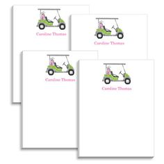 Pink Golf Cart Mini Notepads