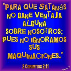 2 Corintios 2:11