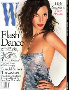 W MAGAZINE - MARCH 2000 COVER MODEL - CHRISTY TURLINGTON