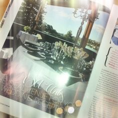 "@modern wedding mag! Page 18 in the Clubs NSW supplement ""The Ideal Venue for your Wedding Reception"" ~ Beautiful views from our Deck Bar Lounge"
