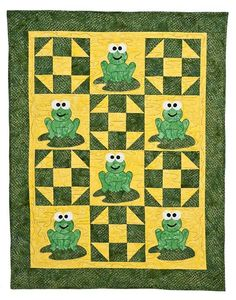 Looking for your next project? You're going to love Froggie Baby Frog Quilt by designer Steph Marie. - via @Craftsy