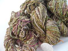 Noro Kogarashi Yarn Wool, Silk 3 skeins Color 20 Lime, Pink, Natural #Noro #HandDyed