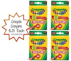 Toys R Us Crayola Crayons Deal  $.25  Each + Buy 1 Get 1 Free  Deal! Great Birthday Party Favor Idea too!