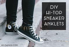 DIY Hi-Top Sneaker Anklets