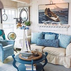 ing all the decor in this cozy little beach cottage   Click the  in our bio to shop beach home decor