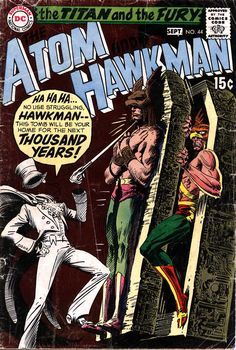 Atom And Hawkman N°44 (September 1969) - Cover by Joe Kubert