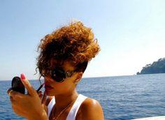 Rihanna in Prada sunglasses