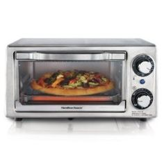 Hamilton Beach Stainless Steel 4 Slice Toaster Oven - 31138 Two-in-one appliances for toasting, baking and more.<br><br>All-purpose Hamilton Beach Toaster . Cooking Appliances, Small Kitchen Appliances, Kitchen Gadgets, Small Toaster Oven, Toaster Ovens, Cheap Toaster, Small Electric Oven, Electric Grills, Stainless Steel Toaster
