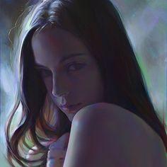 Papers.co wallpapers - av90-yanjun-cheng-girl-paint-dark-illustration-art - http://papers.co/av90-yanjun-cheng-girl-paint-dark-illustration-art/ - illustration
